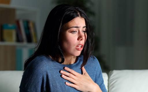 Patiente atteinte de l'asthme